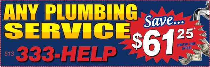 $61 Plumbing Service